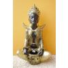 Buddha-tibeti-Csenrézi-vázával/barna-arany