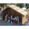 Betlehem-50cm/fa házban/11 figurával