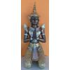 Buddha-thai-térdelő Lord/73 cm/bronz-arany-ezüst
