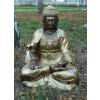 Buddha-thai-lótuszülésben/55 cm/bronz-arany