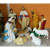 Betlehem-90cm/09 figurával/csacsival-két birkával