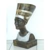 Fáraónő-Nofretete mellszobra-50cm/antik arany-ezüst