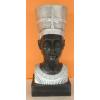 Fáraónő-Nofretete mellszobra-50cm/fekete-ezüst