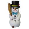 Hóember-43cm/kalapban-seprűvel
