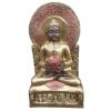 Buddha-thai-ülő-mécsestartóval/bronz-arany-réz