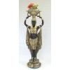 FÁRAÓNŐ-virágtartóval a fején-130cm/fekete-arany
