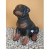 Kutya-Rottweiler-ülő/30cm