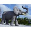 Elefánt-250 cm-agyarral/felemelt ormánnyal