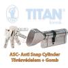 Titan K5 ASC zárbetét 35x65 gombos