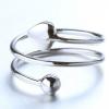 Csavart ezüst gyűrű