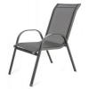 Happy Green Acél szék csíkos textil üléssel