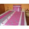 100% pamut 3 részes ágynemű garnitúra huzat extra nagy méret 140x220 - pink - szürke