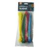 EXTOL PREMIUM EXTOL kábelkötegelő 3,6×200mm 100db, 4 színű (piros, kék, sárga, zöld), nylon;