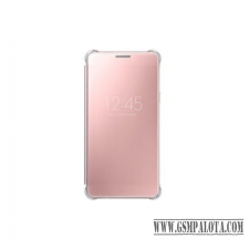 Samsung Galaxy S7 clear view cover tok, Pink tok és táska