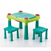 CURVER CREATIVE PLAY TABLE + 2 STOOLS türkiz 857
