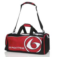6 PACK FITNESS - PRODIGY COLLECTION VARSITY DUFFLE, BLACK/RED - SPORTTÁSKA, FEKETE/PIROS (NA)