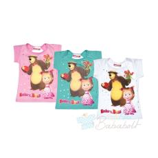 Mása és a medve lányka póló (méret: 92-116)