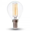 Retro LED izzó - 4W Filament E14 P45 Természetes fehér 4425