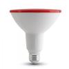 LED izzó - 15W PAR38 E27 IP 65 - Piros 4419