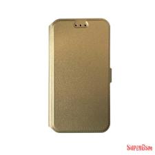 CELLECT Huawei P8 Lite flip oldalra nyiló tok+tartó, Arany tok és táska