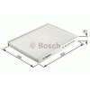 Bosch 1987432238 Pollenszűrő Nissan Qashqai, X Trail II