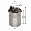 Bosch 0450906426 Gázolajszűrő, üzemanyagszűrő SEAT CORDOBA, IBIZA, SKODA FABIA, ROOMSTER, VOLKSWAGEN POLO