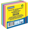 DONAU Öntapadó jegyzettömb, 76x76mm, 400 lap, DONAU, neon és pasztell színek