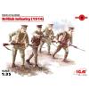 ICM British Infantry (1914) első világháborús britt katonák figura makett ICM 35684