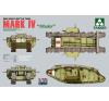 Takom WWI Heavy Battle Tank MARK IV Male tank harcjármű makett Takom 2008 makett figura