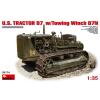MiniArt U.S.Tractor D7 w/Towing Winch D7N katonai jármű makett Miniart 35174