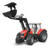 Bruder Massey Ferguson 7600 traktor homlokrakodóval (03047)