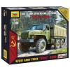 "Zvezda Soviet army truck ""Ural"" 4320 katonai jármű makett Zvezda 7417"