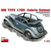 MiniArt MB Typ 170V. Cabrio Saloon autó makett MiniArt