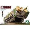 Takom French Heavy Tank St.Chamond Early Type tank harcjármű makett Takom 2002