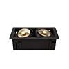 Schrack Technik KADUX 2 ES111 Downlight, szögletes, matt fekete, max. 2x 75W