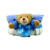 Pelenkatorta Webshop Babaváró ajándék ötlet: Pelenkatorta macival, elõkével kisfiúnak