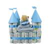 Pelenkatorta Webshop Babaváró ajándék ötlet: Pelenkatorta kék vár plüss macival