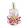Pelenkatorta Webshop Babaváró ajándék ötlet: Pelenkatorta kislánynak BabyZoo baba hintõporral