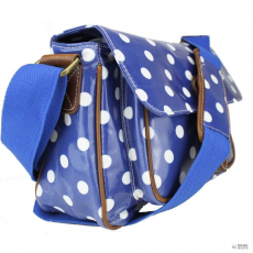 G1108D2 - Miss Lulu London Oilcloth Medium táska Polka Dot Navy