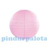 Lampion gömb papír 25 cm rózsaszín