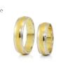 Bicolor matt és vésett arany karikagyűrű