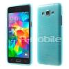 Samsung Galaxy Grand Prime Szilikon Tok Szálcsiszolt Mintával Kék