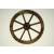 OEM Fa kerék Garth, stílusos, rusztikus dekoráció - 50 cm, sötétbarna