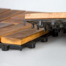Garth padlóburkolat akácfából - 30 x 30 x 2,4 cm (1 db) laminált parketta