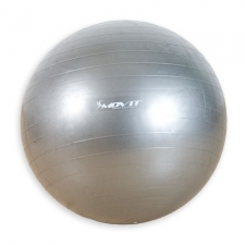 Gimnasztikai labda MOVIT - 75 cm, ezüst fitness labda
