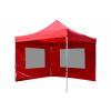 Összecsukható kerti parti sátor Profi – piros, 3 x 3 m + 2 oldalfallal