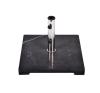 OEM Négyzet alakú Gardenay napernyőtalp, fekete márványból és rozsdamentes acélból, 25 kg bútor