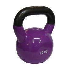 Kettlebell súlyzó 16 kg - vinyl bevonattal kettlebell