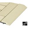 G21 szegélyléc WPC burkolócsempéhez - Cumaru, 30 x 7,5 cm, egyenes
