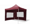 OEM Összecsukható kerti parti sátor – bordó, 3 x 3 m + 4 oldalfallal party kellék